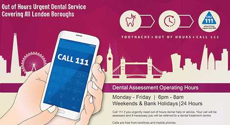 Toothache Out of Hours? Call 111